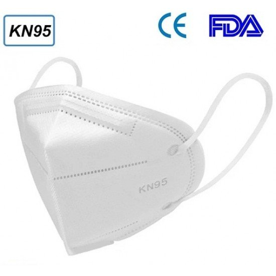 KN95 5 Layers FFP2 Face Mask - White