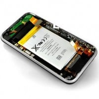 Apple iPhone 3GS Rear Housing With Flex Cable Module - Black