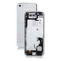 Apple iPhone 5 Rear Housing Panel Battery Door Module - Silver