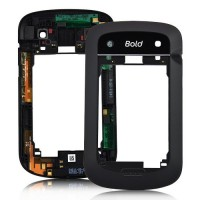 Blackberry 9900 Bold 4 Middle Housing Panel - Black