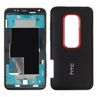 HTC Evo 3D Complete Rear Housing Panel - Black