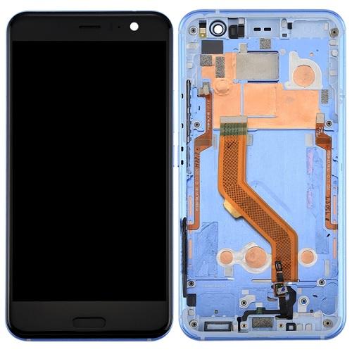 HTC U11 LCD Screen With Front Housing Digitizer Module - Blue