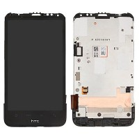 HTC Desire HD LCD Screen With Front Housing Module - Black