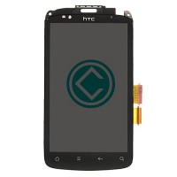 HTC Desire S LCD Screen With Front Housing Module - Black