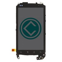 HTC Google Nexus One LCD Screen With Front Housing Module - Black