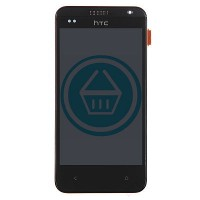 HTC Desire 300 LCD Screen With Front Housing Module - Black