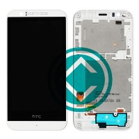 HTC Desire 510 LCD Screen With Front Panel Module - White