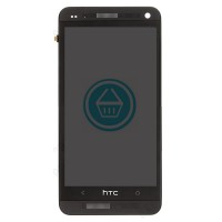 HTC One M7 LCD Screen With Front Housing Module - Black