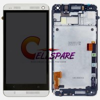 HTC One M7 LCD Screen With Front Housing Module - White