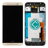 HTC One M9 LCD Screen With Digitizer Module And Frame - Gold