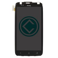 HTC One XL LCD Screen With Front Housing Panel Module - Black