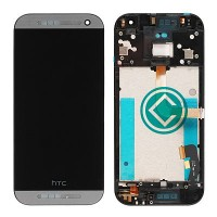 HTC One Mini 2 LCD Screen With Front Housing Module - Grey