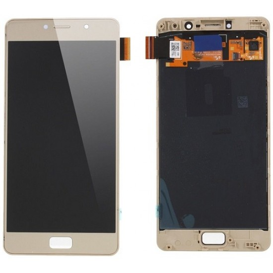 Lenovo P2 LCD Screen With Front Frame Module - Gold