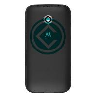Motorola Moto E 2nd Gen Rear Housing Panel Battery Door Module - Black