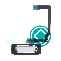 Samsung Galaxy S5 Home Button Key Flex Cable Module - White