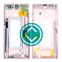 Samsung Galaxy Note 8 Middle Frame Housing Panel Module - Pink