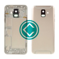 Samsung Galaxy A6 2018 Rear Housing Panel Battery Door Module - Gold