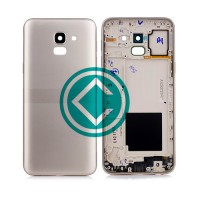Samsung Galaxy J6 Rear Housing Battery Door Module - Gold