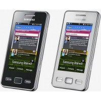 Samsung S5260 Star 2 Housing With LCD Screen - Black - White
