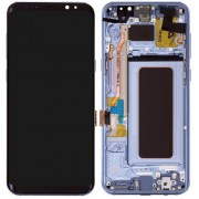 Samsung Galaxy S8 LCD Screen With Front Housing Module - Coral Blue