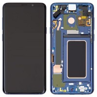 Samsung Galaxy S9 LCD Screen With Front Housing Module - Blue