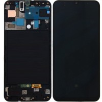 Samsung Galaxy A50 A505 LCD Screen With Front Housing Module - Black
