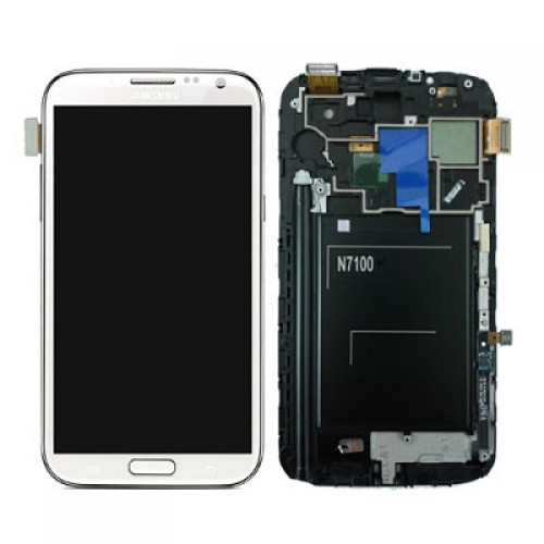 Samsung Galaxy Note 2 N7100 LCD Screen With Frame Module - White