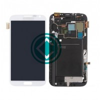 Samsung Galaxy Note 2 N7105 LCD Screen With Frame Module - White
