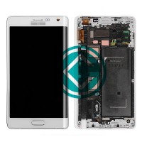 Samsung Galaxy Note Edge LCD Screen With Front Housing Module - White