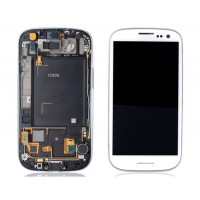 Samsung Galaxy S3 i9300 LCD Screen With Front Housing Module - White