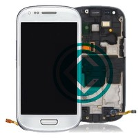 Samsung Galaxy S3 Mini i8190 LCD Screen With Front Housing Module - White