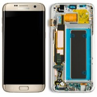 Samsung Galaxy S7 Edge G935 LCD With Front Housing Module - Gold