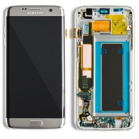 Samsung Galaxy S7 Edge G935 LCD Screen With Front Housing - Silver