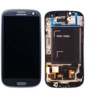 Samsung Galaxy S3 Neo i9300i LCD Screen With Front Housing Module - Blue