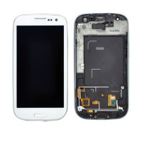 Samsung Galaxy S3 Neo i9300i LCD Screen With Front Housing Module - White