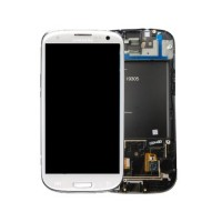Samsung Galaxy S3 i9305 LCD Screen With Front Housing Module - White