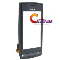 Nokia N500 Touch Screen With Front Housing Module - Black