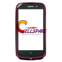 Nokia Lumia 610 Touch Screen With Frame Module - Red