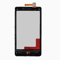 Nokia Lumia 820 Touch Screen With Front Housing Black