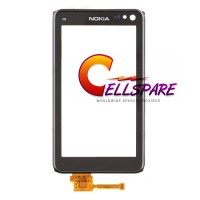 Nokia N8 Digitizer Touch Screen Module With Frame - Black