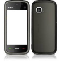 Nokia 5233 Housing With Digitizer And Middle Cover - Black