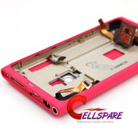 Nokia Lumia 800 Complete Rear Housing Panel With Small Parts - Pink
