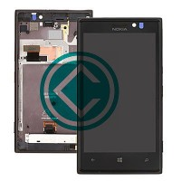 Nokia Lumia 925 LCD Screen With Front Housing Module - Black