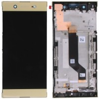 Sony Xperia XA1 Ultra LCD Screen With Digitizer With Frame - Gold
