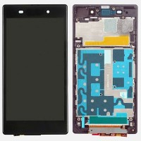 Sony Xperia Z1 L39h LCD Screen With Front Housing Module - Purple