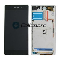 Sony Xperia Z2 LCD Screen With Front Housing Module - White