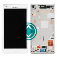 Sony Xperia Z3 Compact LCD Screen With Front Housing Module - White