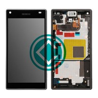 Sony Xperia Z5 Compact LCD Screen With Front Housing Module - Black